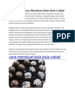 Resep Dan Cara Membuat Bola Bola Coklat