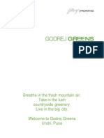 E broacher of Perfect homes in Pune | Godrej Greens
