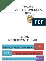 Trauma Vertebromedulares