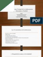 El síndrome Normal de la Adolescencia  de Aberastury y Knobel