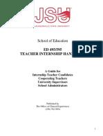 FA16 Internship Handbook