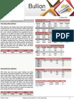 Bullion Market Analysis 12 MAY 2017