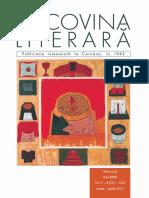 """""""Bucovina literara"""". NR. 3 - 4. 2017."""