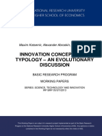 Innovation Concepts and Typology – An Evolutionary Discussion