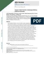 Developmental Changes in Brain Function Underlying Inhibitory Control in Autism Spectrum Disorders