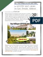 Top Colleges Of UPTU 2017- 2018 | Get Complete List, Details, Address