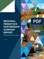 Regional Feedstock Partnership Summary ReportRegional Feedstock Partnership Summary Report