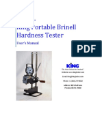 King Hardness Tester Manual