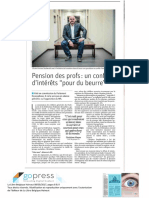 La Libre - La Pension Des Enseignants - Mai 2017