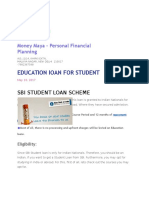 Sbi Loan Scheme for Student