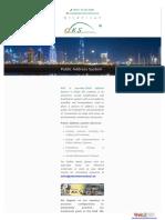 Public Address System in Dubai