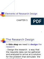 Chapter 5 Elements of Research Design