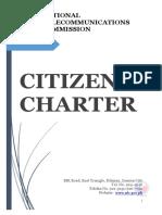 2017 NTC Citizens Charter