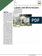 Giornata delle piante, tutti all'Orto Botanico - Il Corriere Adriatico del 16 maggio 2017