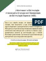Montessori e Microcefalia Em Andamento 2