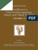(3 Volume Set) Zelah Pengilley-Scott-Brown's Otorhinolaryngology_ Head and Neck Surgery-CRC Press (2008)