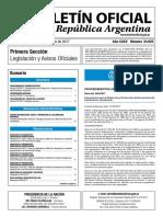 Boletín Oficial de la República Argentina, Número 33.625. 16 de mayo de 2017