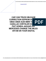 965896589658 Car Van Truck Mileage Correction Eeprom Airbag Obd2 Obdii Audi Bmw Volvo Cadillac Chrysler Dodge Fiat Honda Jaguar Kia Mercedes 9658change the Miles or Km on Your Digital.pd