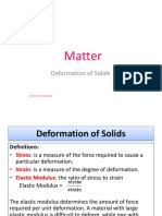 Deformation of Solids