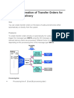 Automatic Creation of Transfer Orders for Outbound Delivery