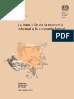 La Transición de La Economía Informal a La Economía Formal.