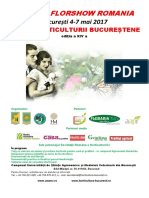 1. Afis - Flyer Zilele Horticulturii Si Hortus FlorShow Romania
