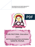 Plan Pastoral Educativo 2017 Santa Rosa