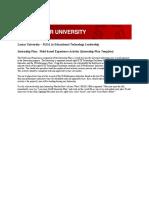 Dena Paden_Draft Internship Plan