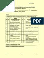 EHS FM-005 Lista de Verificación Para Proyecto
