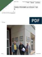 201611 Otra Vez Intentando Prohibir La Stevia y No Lo Conseguiran