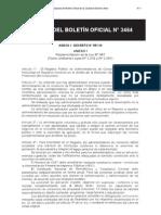 Anexo Boletín Oficial n° 3464, del día 20 de julio de 2010 donde se publica el Decreto n° 551/2010 firmado el 13 de julio de 2010.