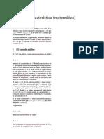 Característica (matemática)
