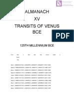 17. Almanach Xv - Transits of Venus Bce