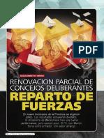 Renovación parcial de concejos deliberantes