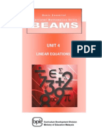 BEAMS_Unit 4 Linear Equations