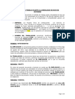 Modelo de Contrato de Mecanico - Peru