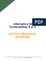 Aditivo Organico Biodiesel