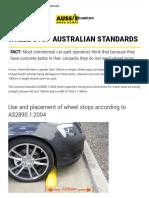 Wheel Stops Australian Quality Standards