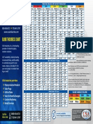 Paddle Blind Thickness Chart Asme Dimensions 11x17 Continuum Mechanics Mechanical Engineering