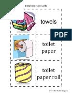 Bathroom Flash Cards for Children