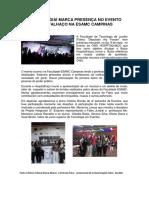 FATEC Jundiaí marca presença no evento Hospitalhaço na ESAMC Campinas