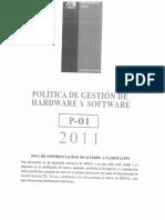 Política de Gestión de Hardware y Software (P-01 2011)