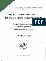 Hindu Philosophy in Buddhist Perspective