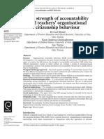 4 Elstad2012 the Strength of Accountability and Teachers Organizational