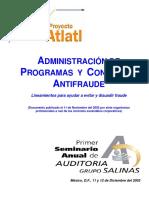 A_Adm Progs y Ctroles Anti Fraude SAS 99