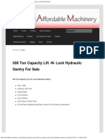 500 Ton Capacity Lift -N- Lock Hydraulic Gantry for Sale _ Call 616-200-4308