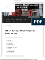 300 Ton Capacity Lift Systems Hydraulic Gantry for Sale _ Call 616-200-4308