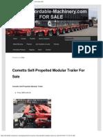 Cometto Self-Propelled Modular Trailer for Sale _ Call 616-200-4308