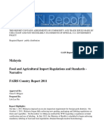 Food and Agricultural Import Regulations and Standards - Narrative_Kuala Lumpur_Malaysia_12!28!2011