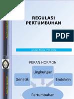 Kuliah 3. Regulasi Pertumbuhan (2)
